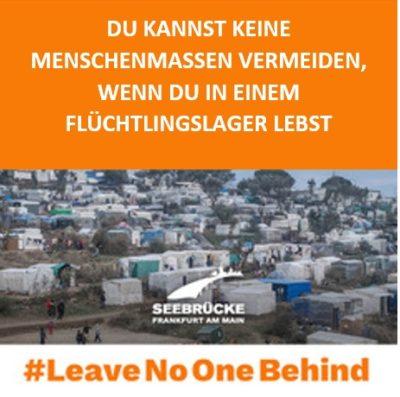 Menschenmassen kann man in Flüchtlingslagern nicht meiden.